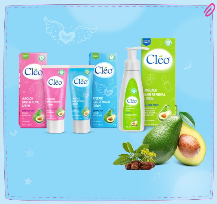 2. Kem tẩy lông Cleo Avocado Hair Removal Lotion