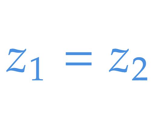 2 số phức cũng có thể bằng nhau