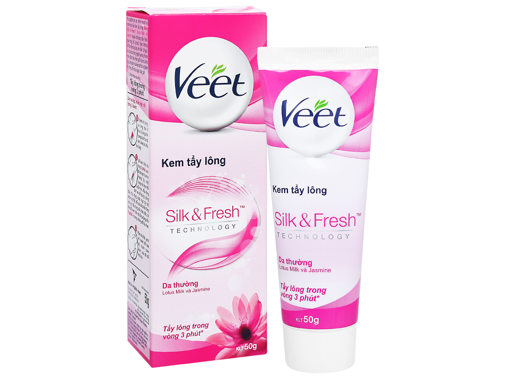 3. Kem tẩy lông Veet silk & Fresh Normal 50g