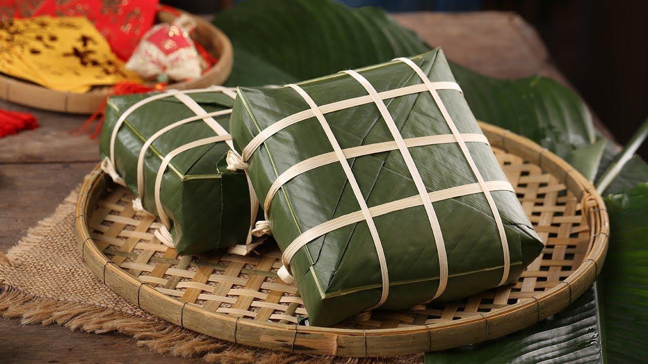 Bánh chưng - món ăn truyền thống trong dịp tết Nguyên Đán