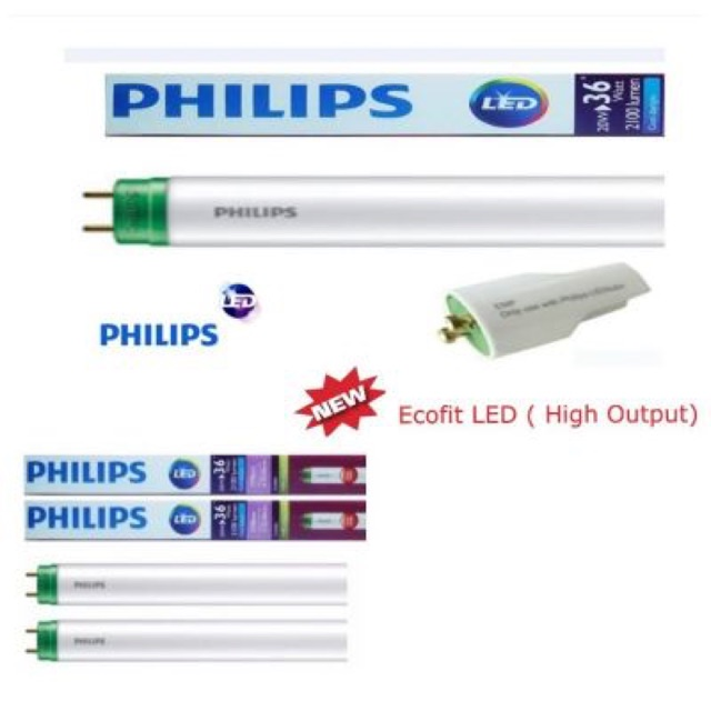 Bóng đèn led tube Ecofit HO 1.2m 20w Philips