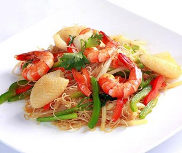 Bún xào hải sản - món ăn vừa ngon vừa nhiều dinh dưỡng