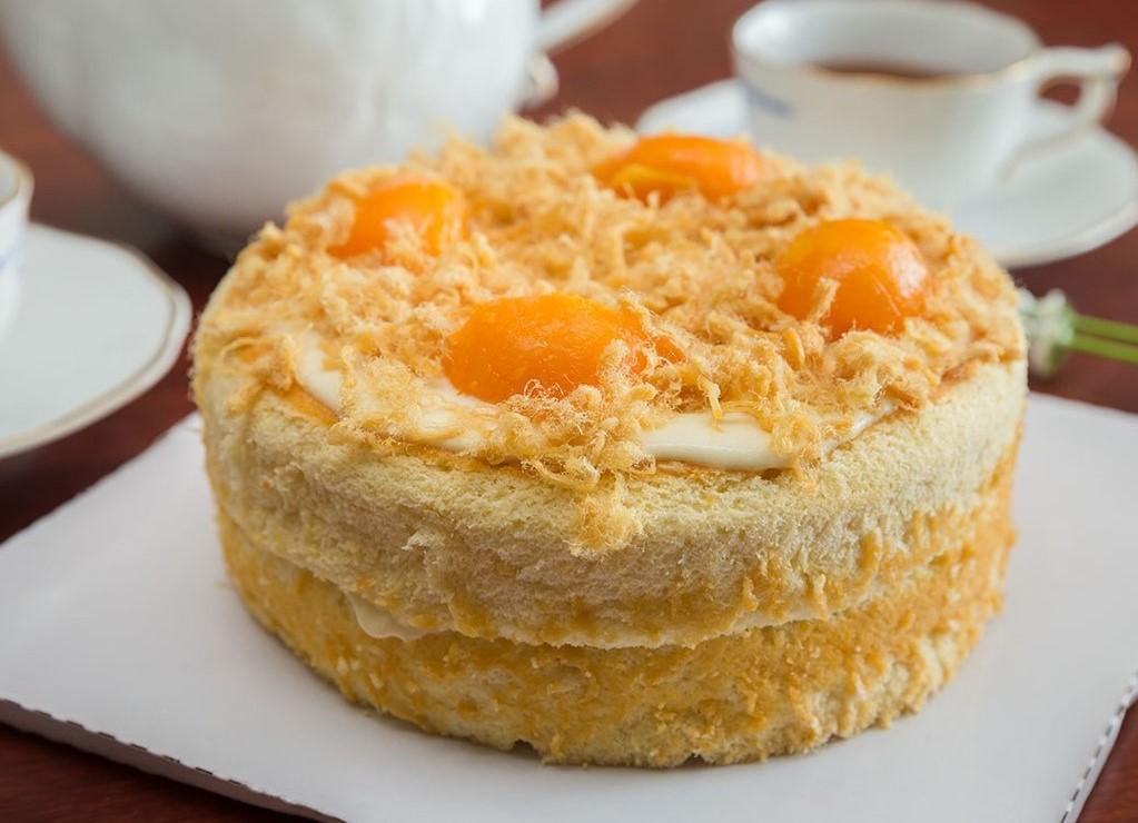 Cách làm bánh bông lan trứng muối