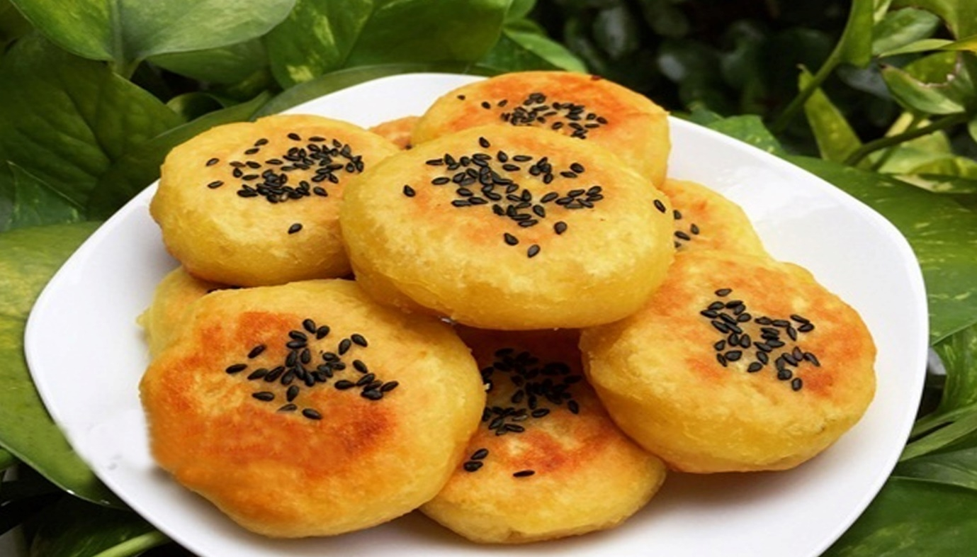Cách làm khoai lang kén dùng bột mì.