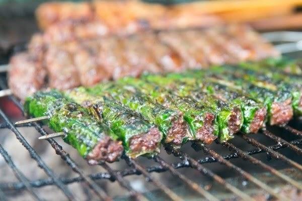 Cách làm món bò nướng lá lốt