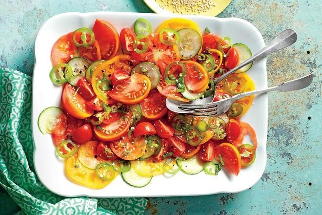 Cách làm salad dưa chuột, cà chua ngâm xì dầu