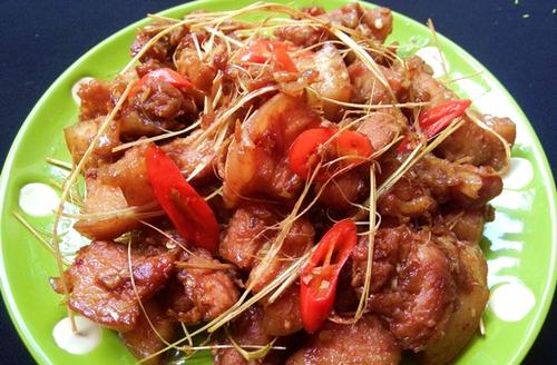 Cách làm thịt rang cháy cạnh chua ngọt sốt cà