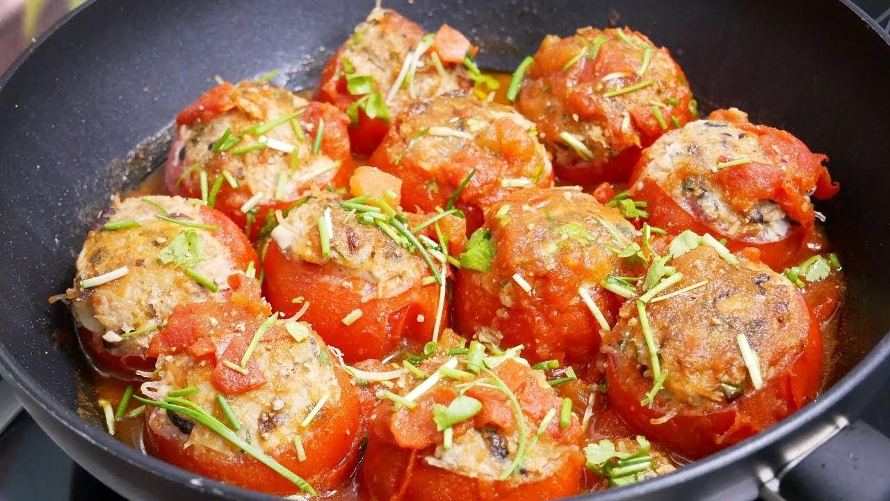 Cách làm thịt viên nhồi cà chua