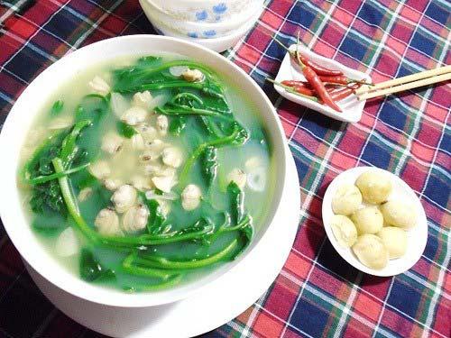 Canh ngao mồng tơi- món ăn giải nhiệt mùa hè