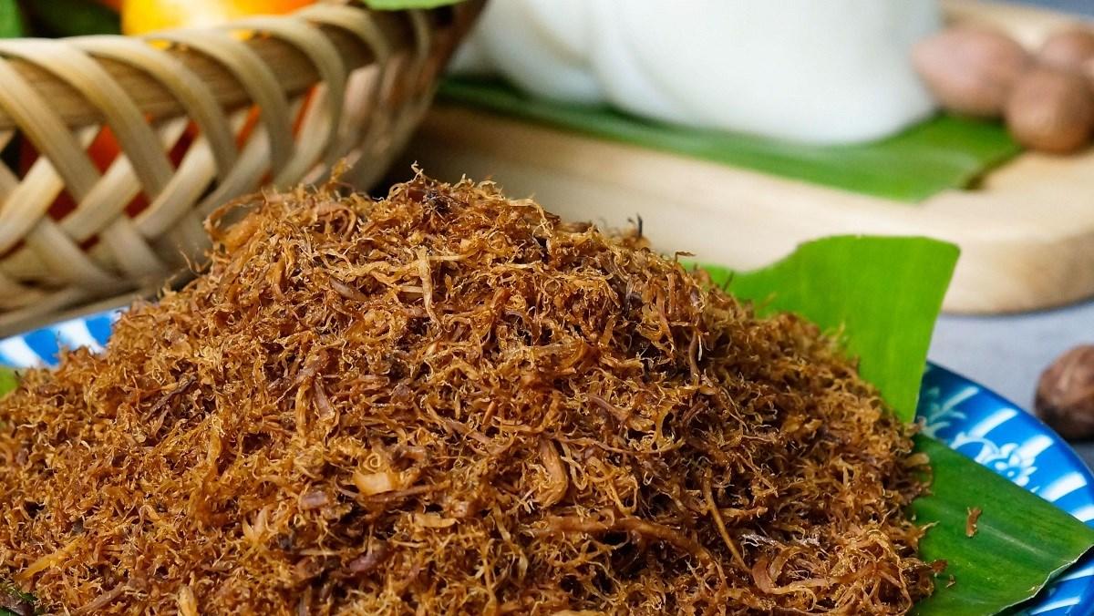 Chà bông chay – món ăn được nhiều tín đồ Phật tử yêu thích.