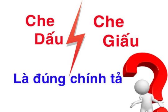 Che dấu hay che giấu? Cách khắc phục lỗi chính tả giữa d và gi