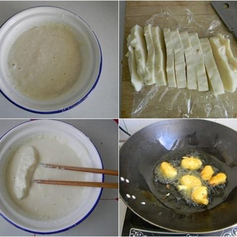 chiên bánh sữa tươi