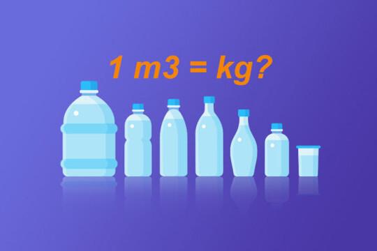 Đổi từ kg sang m3 như thế nào? Cách đổi một số loại vật chất khác nhau