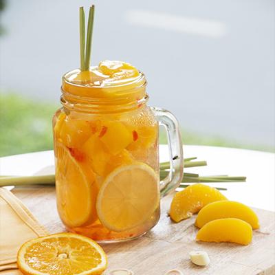 Công dụng tuyệt vời của trà đào cam sả