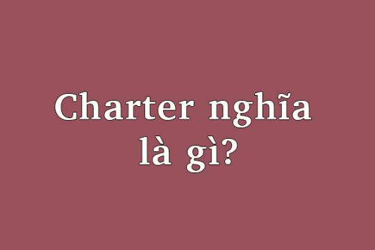 Charter là gì? Charter được dùng trong những lĩnh vực nào trong đời sống?