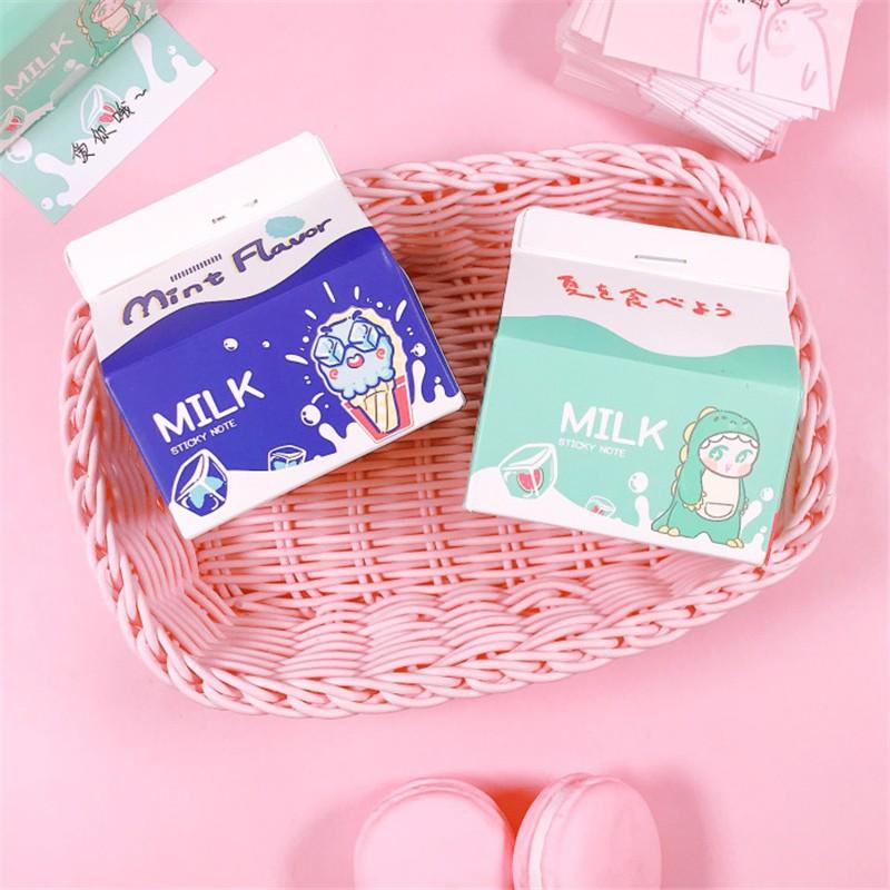 Giấy note hình hộp sữa OEM