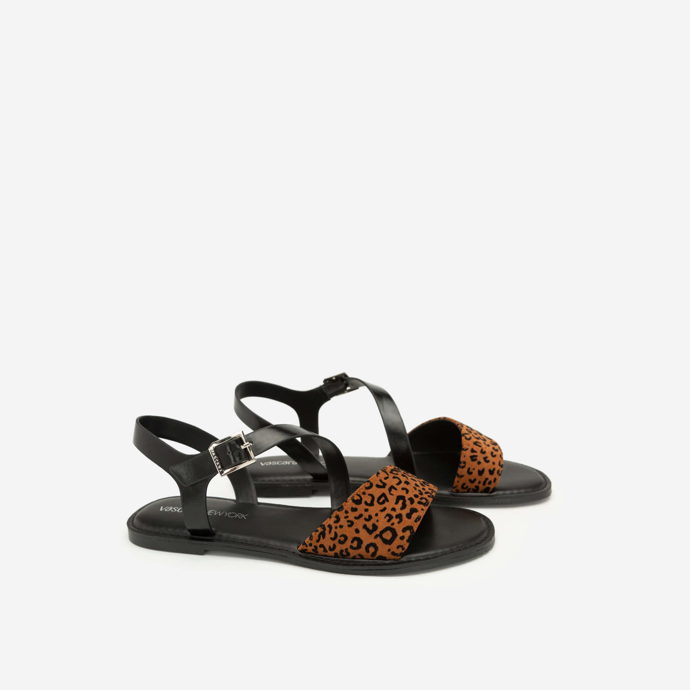 Giày sandal họa tiết da báo Vascara SDK 0305