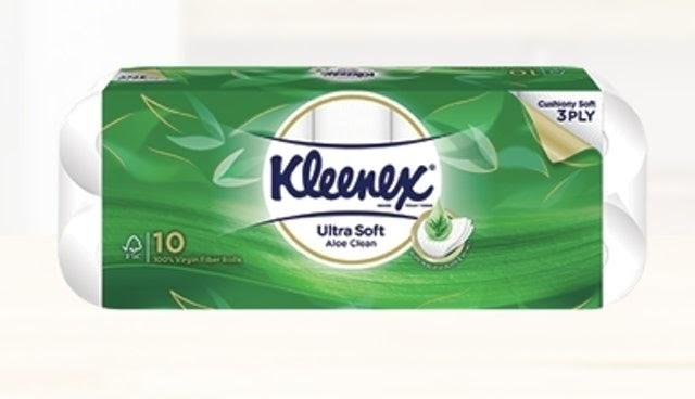 Giấy vệ sinh Lô Hội Ultra Soft Aloe Clean Kleenex