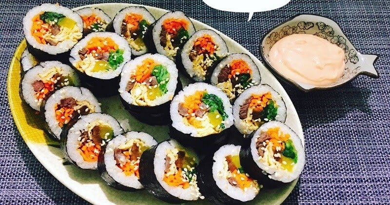 Kimbap - ẩm thực Hàn Quốc không thể bỏ qua