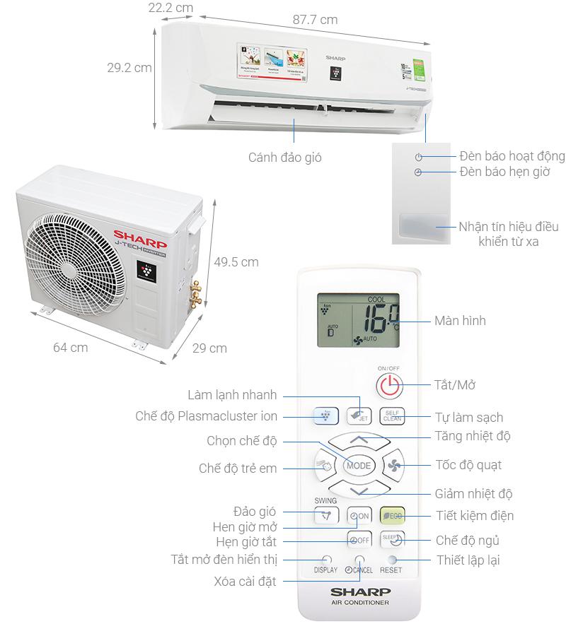 Máy điều hòa tiết kiệm điện Inverter 1Hp AH-XP10WMW