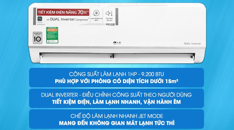 Máy điều hòa tiết kiệm điện LG Inverter 1HP V10ENW