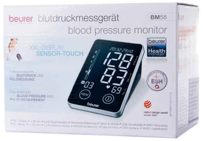 Máy đo huyết áp Beurer BM58 - Đo bắp tay có cảm ứng