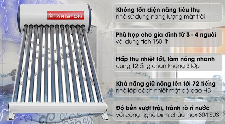Máy nước nóng năng lượng mặt trời Ariston 150 lít ECO 1812-1