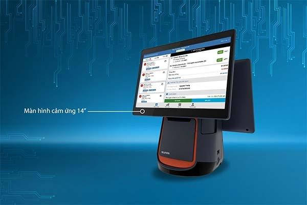 Máy tính tiền cảm ứng SUNMI T2 2 màn hình