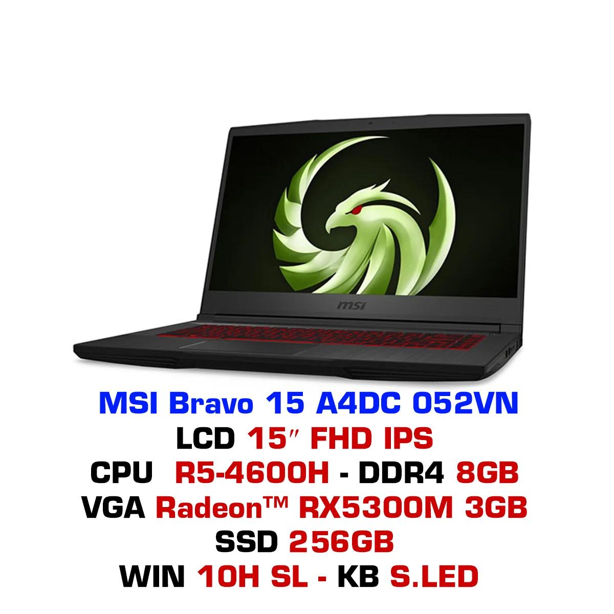 MSI Bravo 15 A4DC 052VN - Ryzen 5 4600H