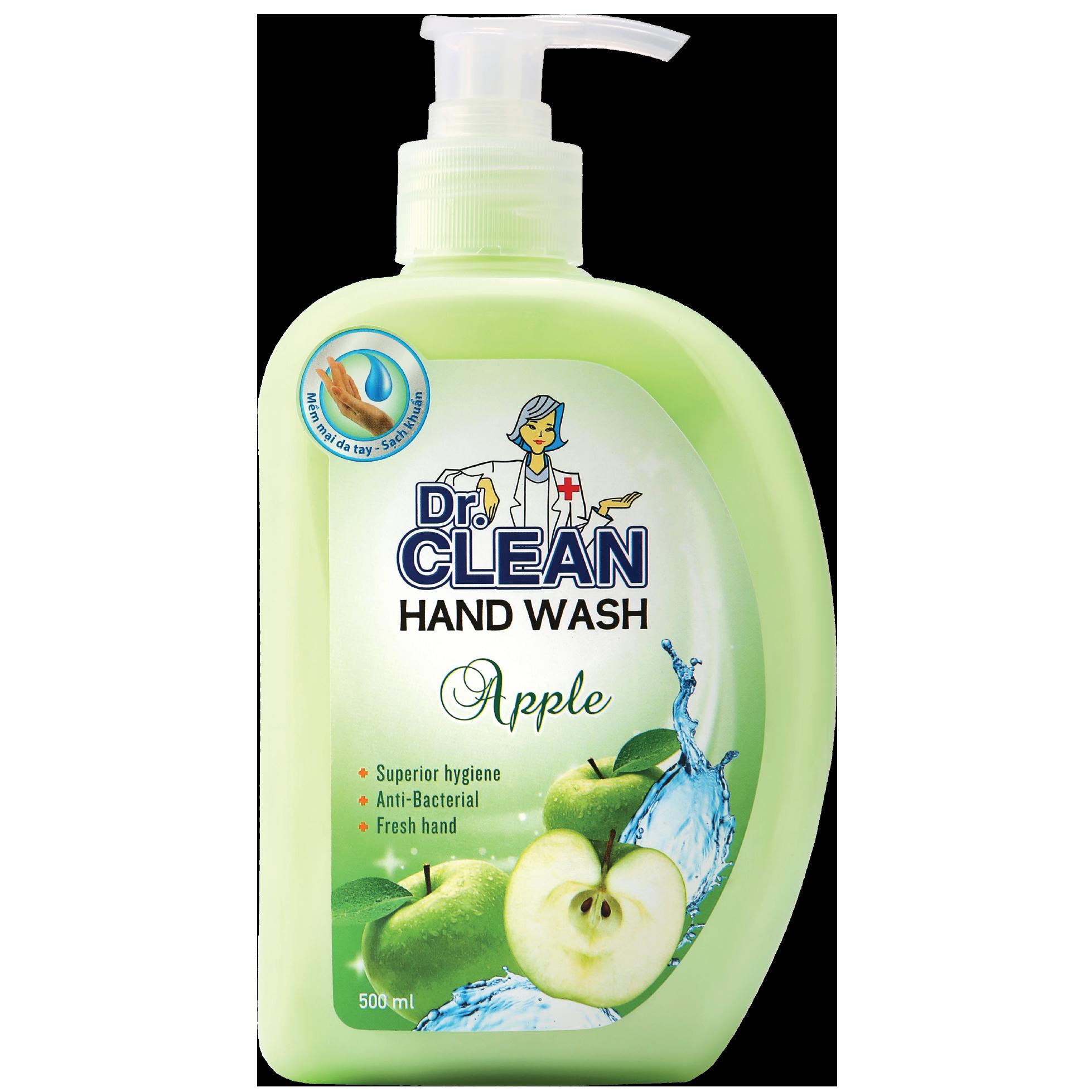 Nước rửa tay chính hãng Dr. Clean táo 500ml