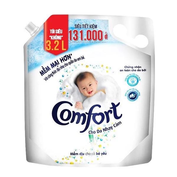 Nước xả vải Comfort cho da nhạy cảm (dạng túi, 3.2L)