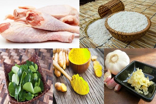 Sơ chế nguyên liệu gà bó xôi