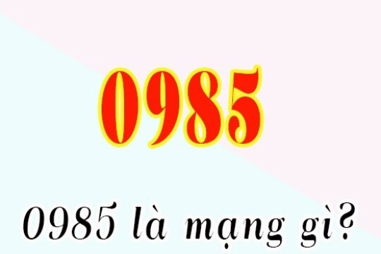 0985 là mạng gì? Tại sao nên sử dụng sim đầu số 0985
