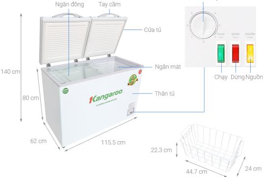 Review top 5 mẫu tủ đông lạnh làm lạnh nhanh và tiết kiệm điện