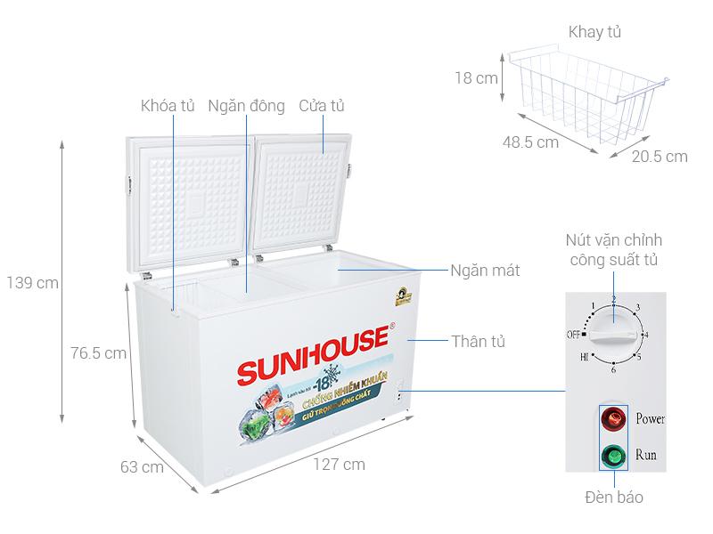 Tủ đông lạnh Sunhouse SHR-F2412W2