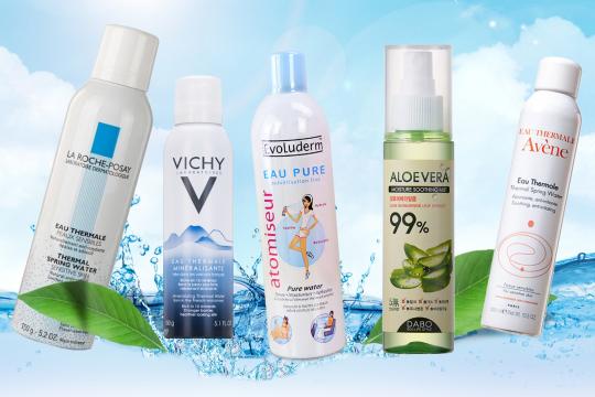 Review top 5 loại xịt khoáng cho da dầu - cứu tinh ngày hè cho làn da đổ dầu