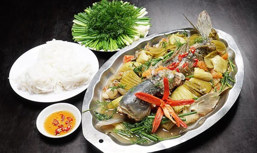 Yêu cầu món cá chép om dưa sau khi hoàn thành