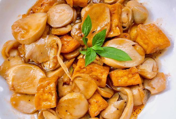 Yêu cầu sau khi hoàn thành món đậu xào nấm