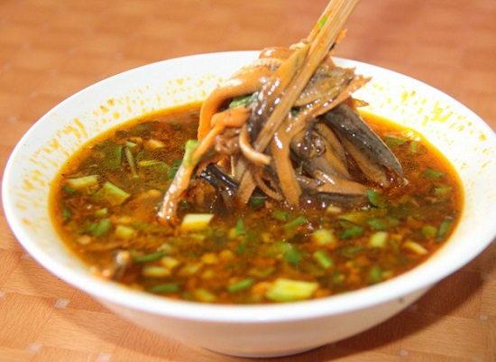 Yêu cầu sau khi hoàn thành món súp lươn